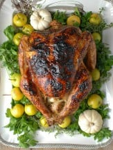 White Wine Ginger Thyme Brined Roast Turkey - BoulderLocavore.com.