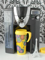 iCoffee Opus Single Cup machine filling Parisian travel cup - BoulderLocavore.com