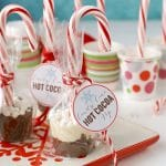 Candy Cane Hot Cocoa Pops. Swirl this pop in a cup of hot milk for rich, creamy peppermint hot chocolate. With printable gift labels! BoulderLocavore.com
