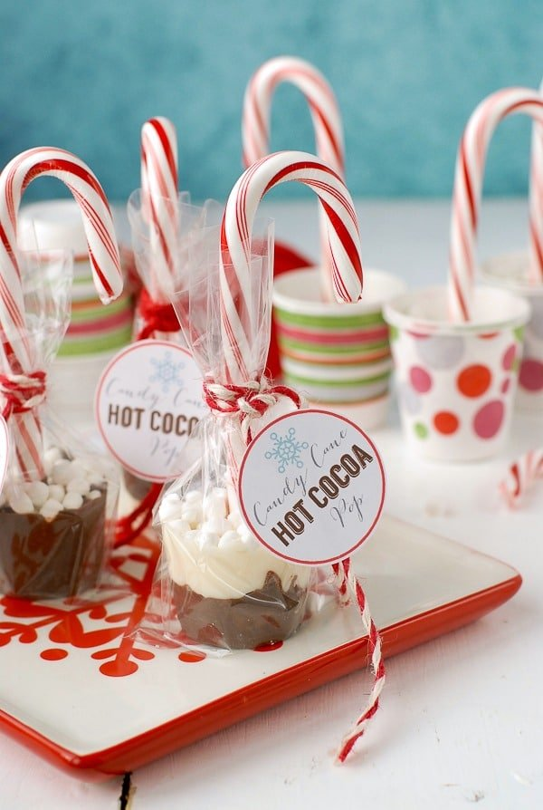 Candy Cane Hot Cocoa Pops