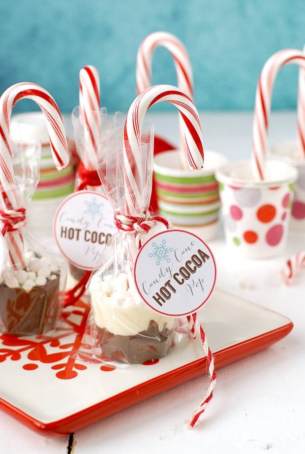 Candy Cane Hot Cocoa Pops | Candy Cane Ideas And Recipes You'll Love