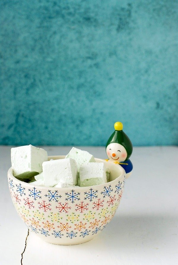 DIY Creme de Menthe Marshmallows