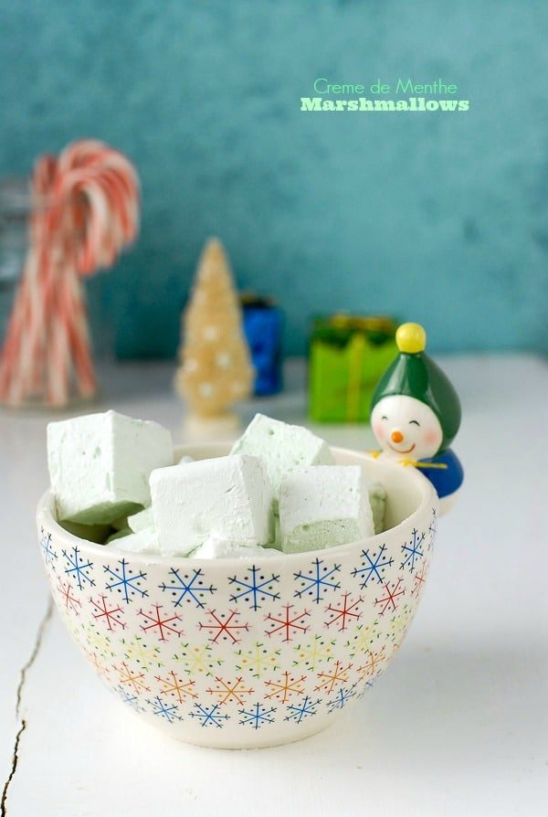 Easy to make, puffy, minty Creme de Menthe Marshmallows are great in ...