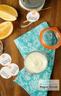 DIY Homemade Orange Coconut Oil Sugar Scrub with free Printable labels - BoulderLocavore.com