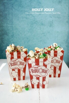 Holly Jolly Chocolate-Peppermint Popcorn Treat Mix - BoulderLocavore.com