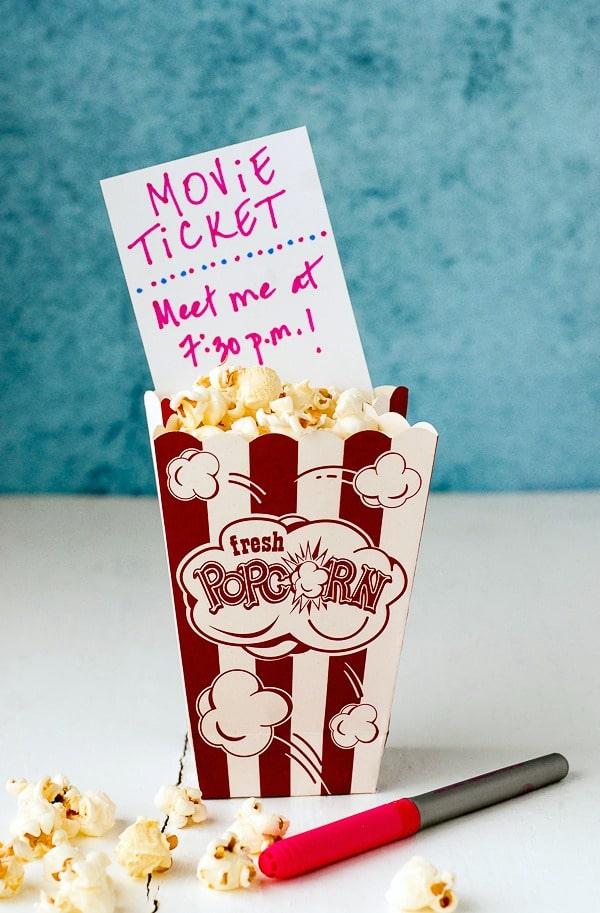 Home Crafted Holiday Ideas Movie Ticket - BoulderLocavore.com