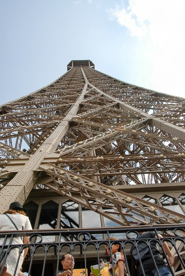 Looking up the Eiffel Tower - BoulderLocavore.com