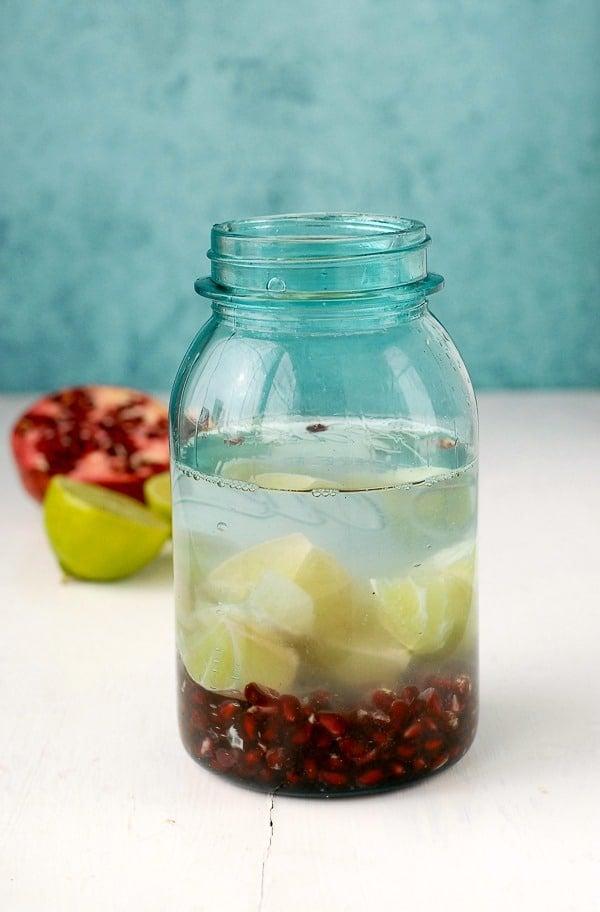 Pomegranate Lime Vodka infusion - BoulderLocavore.com