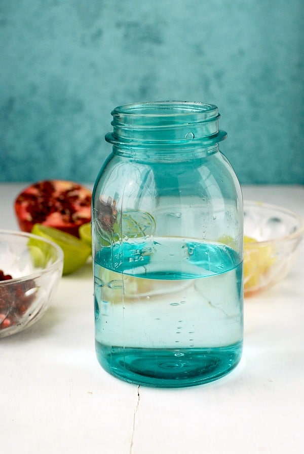 Pomegranate Lime Vodka infusion- pomegranate in vodka - BoulderLocavore.com
