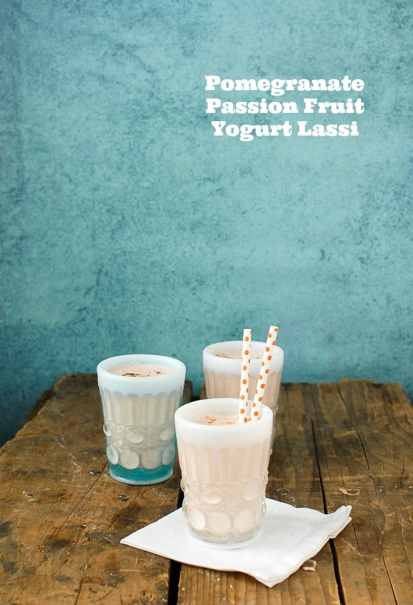 Pomegranate Passion Fruit Yogurt Lassi - BoulderLocavore.com
