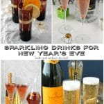 Sparkling Drinks for New Year's Eve {with and without alcohol}