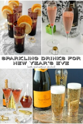 collage of sparkling drinks