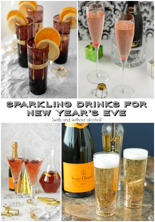 Sparkling Drink Recipes for New Year's Eve with and without alcohol BoulderLocavore.com