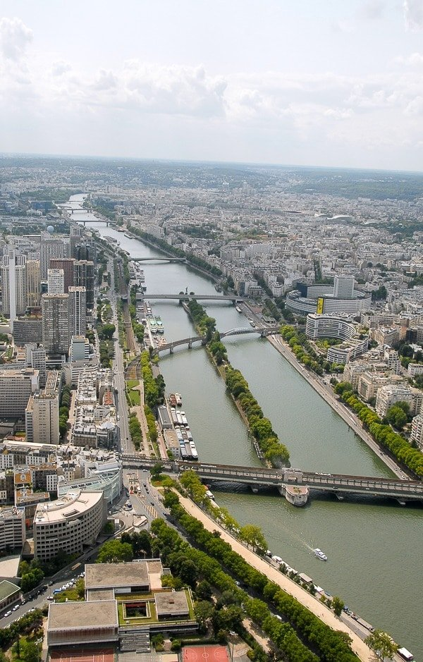 View of the Seine from the Eiffel Tower - BoulderLocavore.com