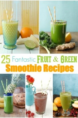 collage of smoothies