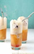 Bourbon Orange Soda Cherry-Vanilla Ice Cream Floats