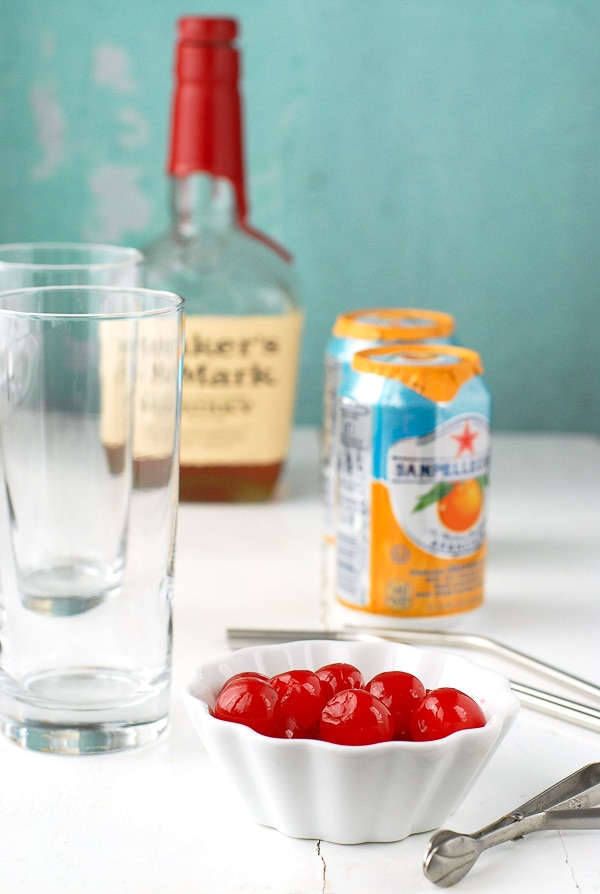 Orange Soda Bourbon Cherry-Vanilla Ice Cream Float - Ingredients