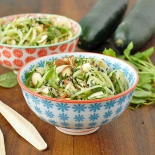 Cold Cucumber Noodle Salad with Watercress, Mint and Toasted Sesame-Ginger Dressing - BoulderLocavore.com