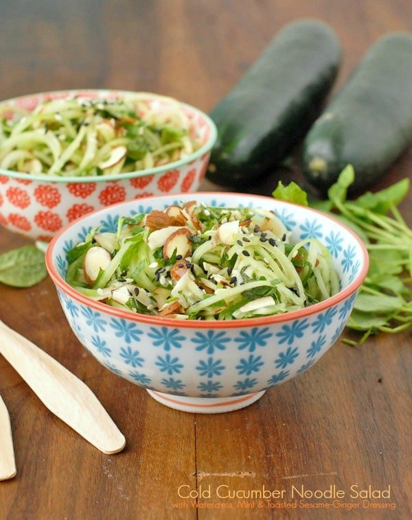 Cucumber Noodle Salad with Watercress, Mint and Toasted Sesame-Ginger ...