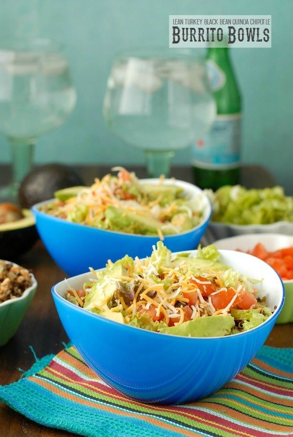 Lean Turkey Black Bean Quinoa Burrito Bowls - BoulderLocavore.com