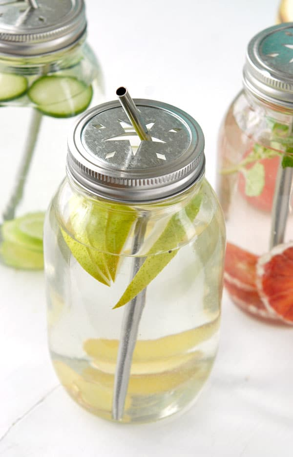 Infused Spa Water: Pear-Ginger Water- BoulderLocavore.com