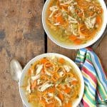 Skinny Chicken and Sweet Potato Noodle Soup