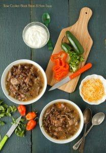 Slow Cooker Black Bean & Hambone Soup with Cumin- BoulderLocavore.com