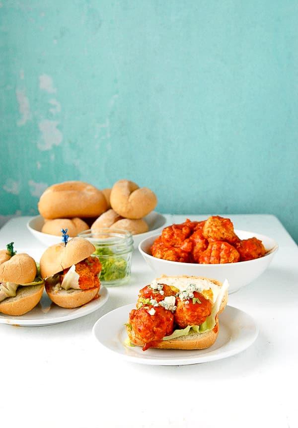 Slow Cooker Buffalo Chicken Meatball Mini Sandwiches - BoulderLocavore ...