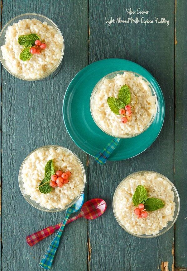 Slow Cooker Light Almond Milk Tapioca Pudding - BoulderLocavore.com