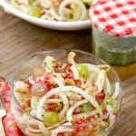 Apple and Pears Pomegranate Slaw with Honey Poppyseed Dressing