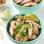 Thai Chicken Thigh Basil-Quinoa Bowl. A light, filling dish with fantastic Thai flavors! - BoulderLocavore.com