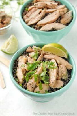 Thai Chicken Thigh Basil-Quinoa Bowl.