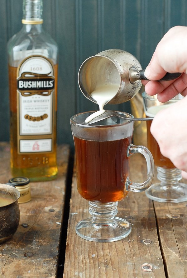 Authentic Irish Coffee recipe - floating the cream - BoulderLocavore.com