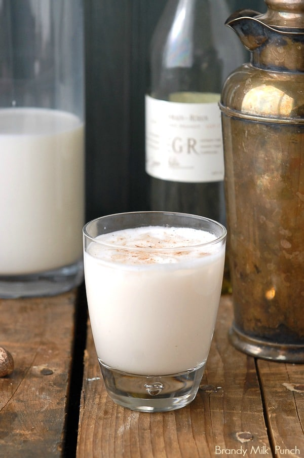 Brandy Milk Punch. A silky Brunch cocktail or 'the hair of the dog' solution! - BoulderLocavore.com
