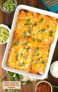 Chipotle Green Chile Chicken and Black Bean Enchiladas