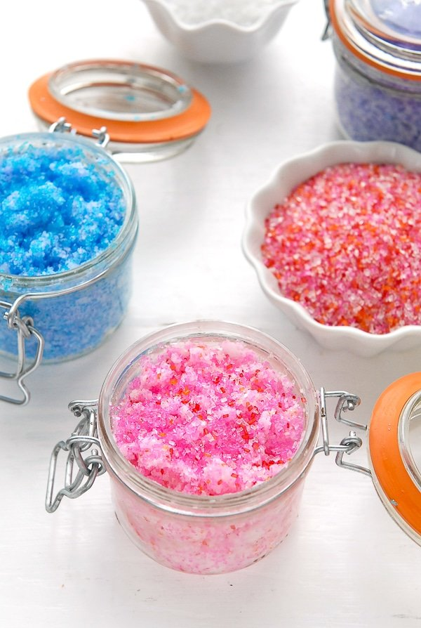 DIY Gift Idea- Sparkling Flower-scented Coconut Oil Sugar Scrub - BoulderLocavore.com