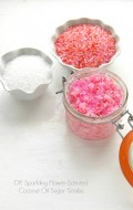 DIY Gift Idea: Sparkling Flower-Scented Coconut Oil Sugar Scrubs