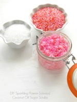 DIY Sparkling Flower-scented Coconut Oil Sugar Scrub - BoulderLocavore