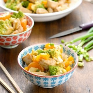 Fast and Healthy Orange and Romanesco Stir Fry with Clementines - BoulderLocavore.com