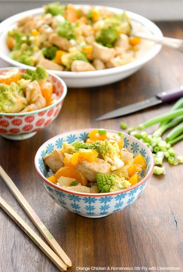 Orange Chicken and Romenesco Stir Fry with Clementines