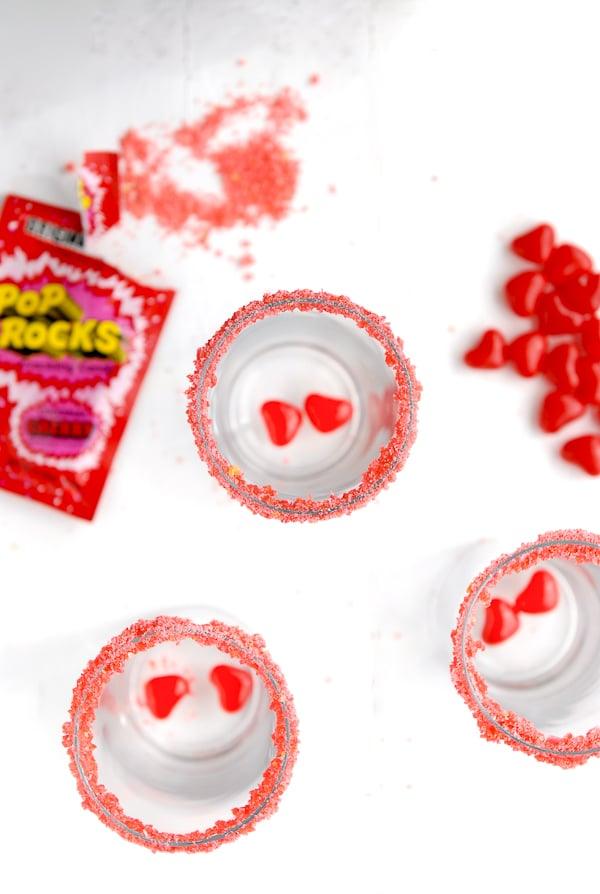Love Potion #9 - Cherry Pop Rocks rim with heart red hots  - BoulderLocavore.com