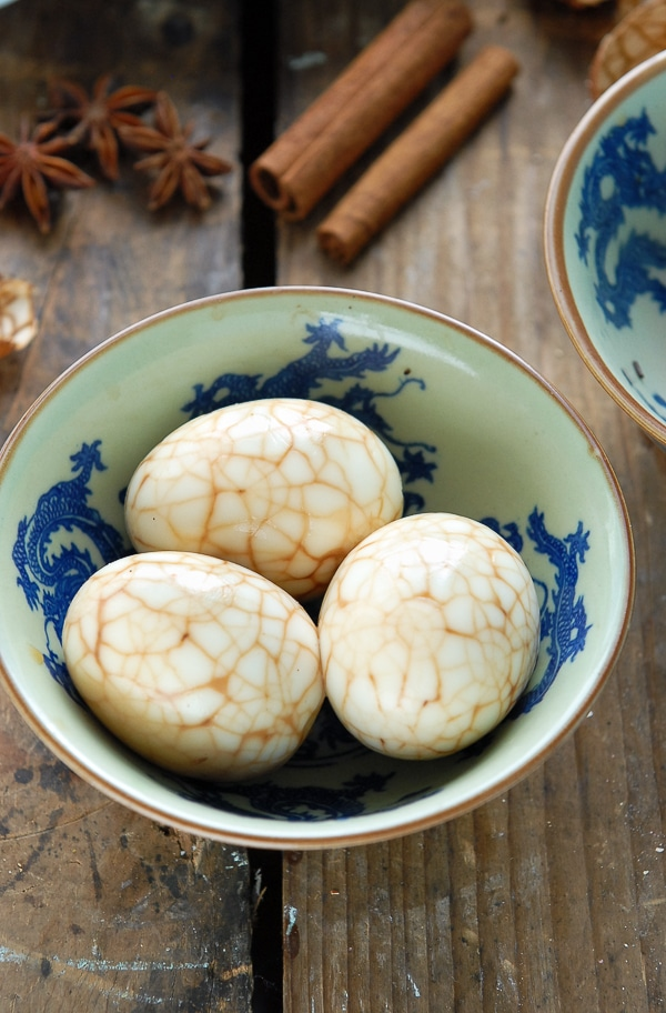 Marbled Chinese Tea-Spice Eggs - BoulderLocavore.com