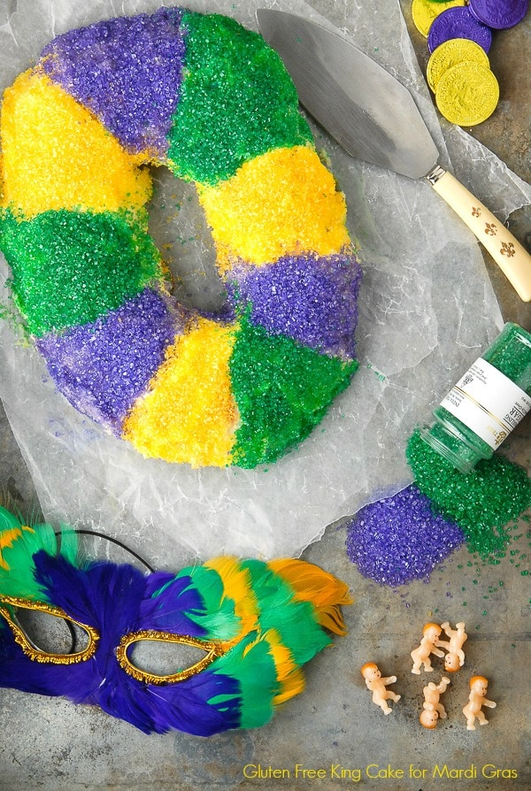 Gluten-Free King Cake for Mardi Gras