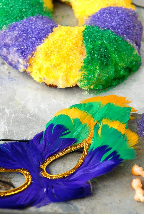 Mardi Gras King Cake and Mask - BoulderLocavore.com