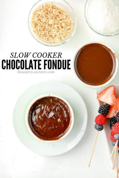 Slow Cooker Chocolate Fondue title image