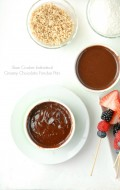 Slow Cooker Individual Creamy Chocolate Fondue Pots