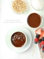 Slow Cooker Individual Creamy Chocolate Fondue Pots - BoulderLocavore.com