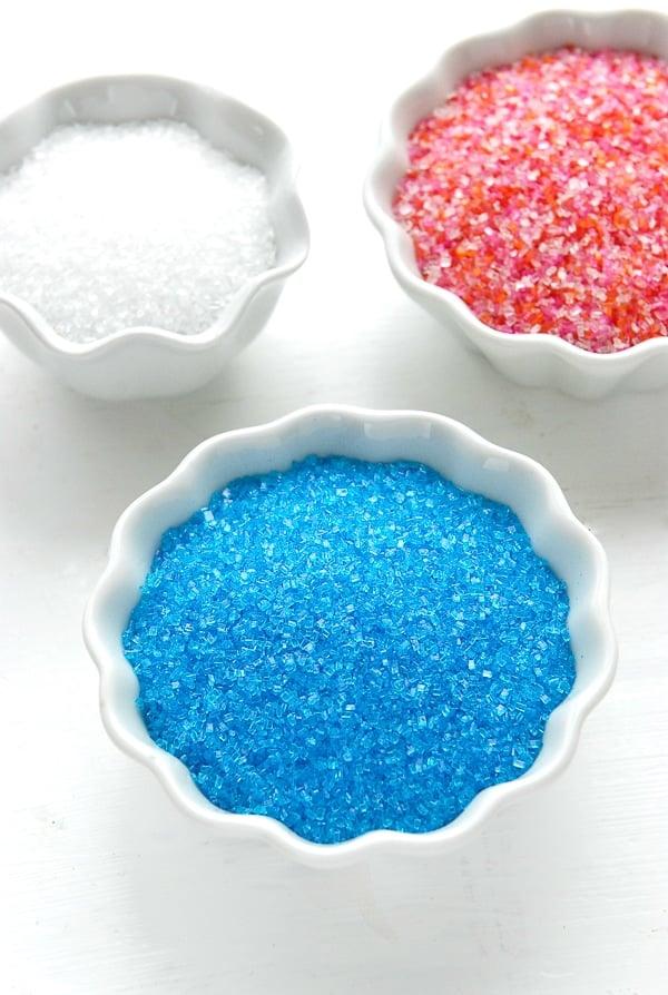 Sparkling Sugars blue, white, pink mixed - BoulderLocavore.com