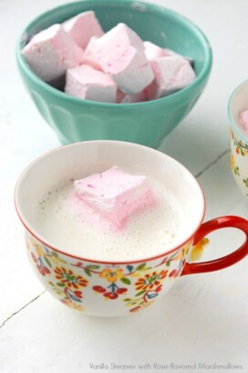 Vanilla Steamer with DIY Rose-flavored Marshmallows