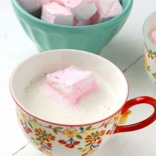 Vanilla Steamer with DIY Rose-flavored Marshmallows - BoulderLocavore.com